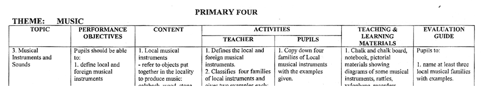 music lesson plan